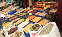 Spices for Sale in the Souq or Souk in Acre Stock Images