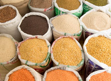Spices for sale in the spice souk at Deira. UAE Dubai. Stock Photography