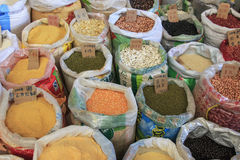Spices for sale in a traditional market of kunming in China Stock Photo