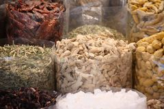 Spices on Sale. Various Spices for sale in a spice market in an Indian city Stock Photography