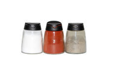 Spices. Salt and red pepper Royalty Free Stock Photography