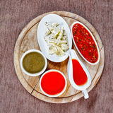 Spices and sauces Royalty Free Stock Photo