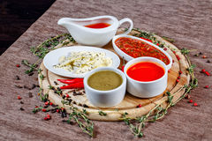 Spices and sauces Stock Photos