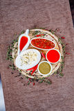 Spices and sauces Royalty Free Stock Photography