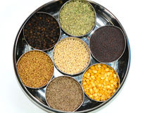 Spices and seasoning royalty free stock photography