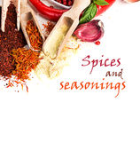 Spices and seasonings close-up Royalty Free Stock Photos