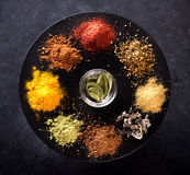 Spices, seasonings and herbs. Cooking concept Stock Photography