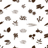 Spices and seasonings icons seamless pattern Stock Images