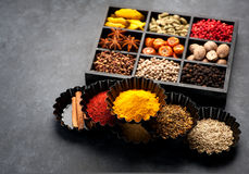 Spices and seasonings Stock Photography