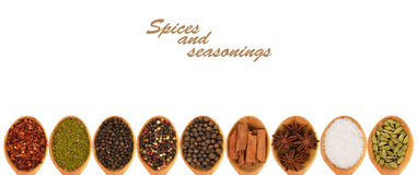 Spices and seasonings Stock Photo