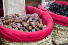 Spices, seeds and tea sold in a traditional market in Granada, S Royalty Free Stock Image