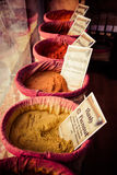 Spices, seeds and tea sold in a traditional market in Granada Stock Photography