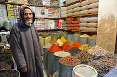 Spices seller in Morocco Stock Photos