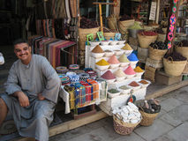 Spices seller at the Souk. Egypt stock images