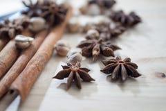 Cinnamon, Cardamon, Star Anise Royalty Free Stock Image