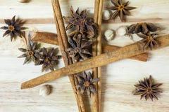 Cinnamon, Cardamon, Star Anise Royalty Free Stock Photo