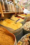 Spices shop. Colored spices shop in morocco Stock Images