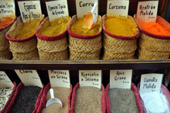 Spices shop. Image of some colorful spices in a shop Royalty Free Stock Photo