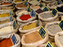Spices in a shop Stock Photography