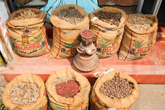 Spices on a shop at Fort Cochin Royalty Free Stock Photo