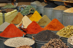 Spices shop in Morocco royalty free stock images