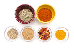 Spices in small bowls Stock Image
