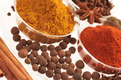 Spices in small glass bowl Royalty Free Stock Image