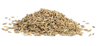 Spices: small pile of zeera seeds Royalty Free Stock Image