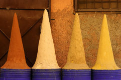 Spices on a small store in Marrakesh, Morocco Royalty Free Stock Photos