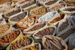 Spices are sold on open east market. India, Pushkar Stock Image