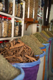 Spices at souks of medina quarter of Marrakech Royalty Free Stock Photo
