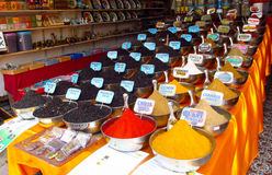 Spices and souvenirs on the indian market Stock Photo
