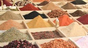 Spices. Spice bazaar, turkish spices in Antalya Turkey stock photos