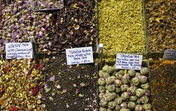 Spices at the Spice Market in Istanbul, Turkey royalty free stock photography