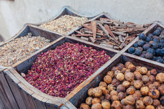 Spices At The Spice Souk Of Deira. Dubai, UAE Royalty Free Stock Photos