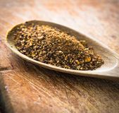 Spices in a spoon Royalty Free Stock Photos