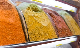 Spices stall in the Spice Market Royalty Free Stock Photo