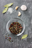 Spices on a stone background Stock Image