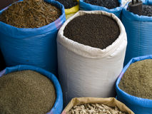 Spices on the street. Spices on the market place on the street. Marocco Royalty Free Stock Photo