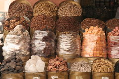 Spices on the street in Morocco Stock Photo