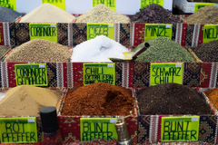 Spices and sweets in Grand Bazaar Stock Images