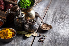 Spices at the table Royalty Free Stock Images