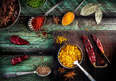 Spices at the table Royalty Free Stock Photo