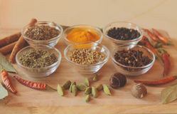 Spices on the table Royalty Free Stock Photography