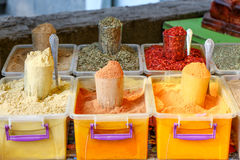Spices and tea at the Spice Market Royalty Free Stock Images