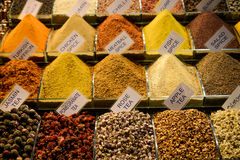 Spices and tea at the Spice Market Royalty Free Stock Image
