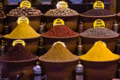 Spices in turkish market Stock Photo