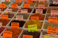 Spices in the Turkish market Stock Photos