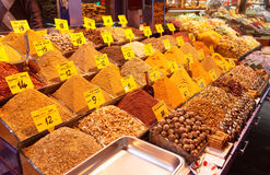 Spices on Turkish market stall Royalty Free Stock Images