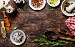 Spices for use as cooking ingredients Royalty Free Stock Photography